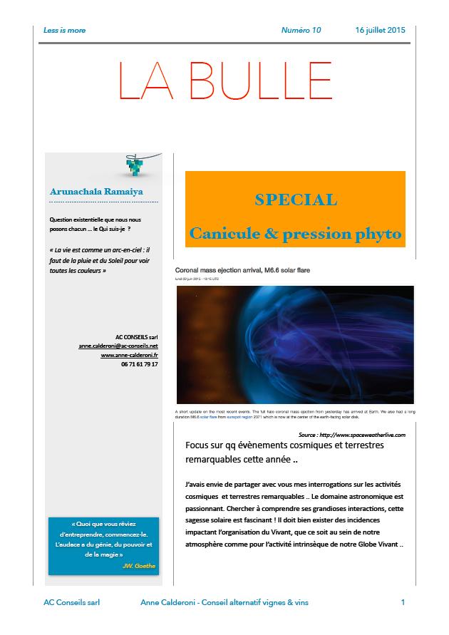 LA BULLE 10